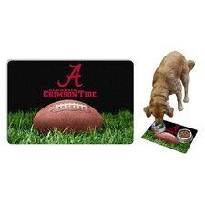 NCAA Classic Football Pet Bowl Mat