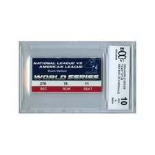 MLB 2004 World Series Game 4 Ticket Stub Graded BCCG 10 - Boston Red Sox