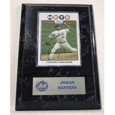 Sports Images Card Plaque MLB Johan Santana Card - New York Mets Memorabilia Plaque