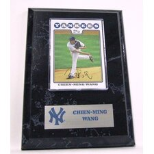 Sports Images Card Plaque MLB Chien Ming Wang Card  - New York Yankees Memorabilia Plaque