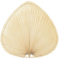 Wide Oval-Shaped Palm Leaf Indoor Ceiling Fan Blades (Set of 5)