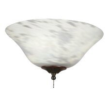 <strong>Fanimation</strong> Milky White Swirl Ceiling Fan Glass Bowl Shade