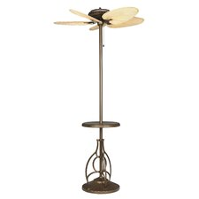 Torrento Floor Fan in Aged Bronze with Bamboo Blades in Antique