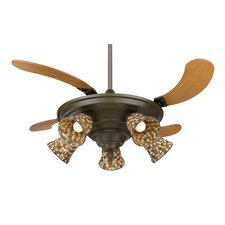 "43"" Air Shadow 5 Blade Ceiling Fan with Remote"