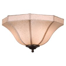 "14"" Windpointe Fabric Ceiling Fan Bowl Shade"