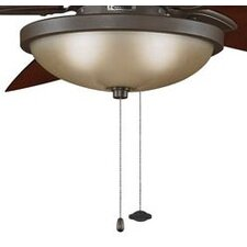 3 Light Bowl Ceiling Fan Light Kit