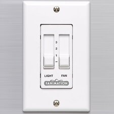 Sliding Light and Ceiling Fan Wall Remote Control in White