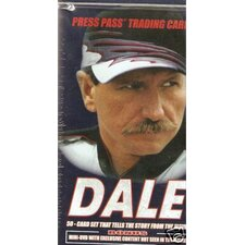 NASCAR Press Pass Dale Earnhardt Collectors Tin Playing Cards