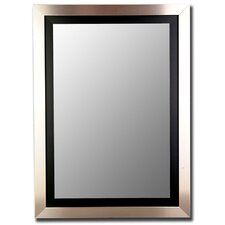 Silver / Black Framed Wall Mirror