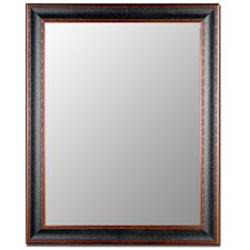 Textured Black & Copper Framed Wall Mirror