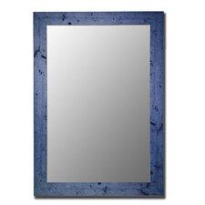 Vintage Blue Framed Wall Mirror