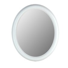 Premier Series Oval Mirror in Floral White