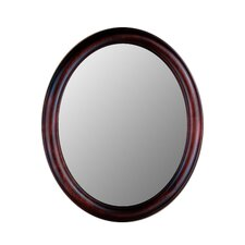 Premier Series Oval Mirror in Cherry