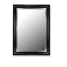 Mirror in Glossy Black Grande with Stainless Liner