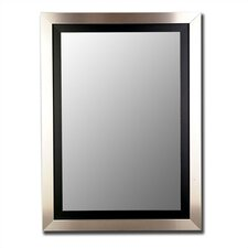 Manhattan Mirror in Silver and Black