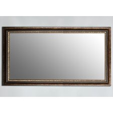 Rubbed Copper Bronze Framed Wall Mirror