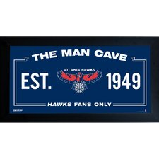 NBA Framed Man Cave Sign