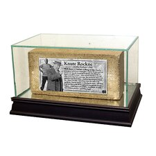"<strong>Steiner Sports</strong> Notre Dame Brick ""Knute Rockne Speech"" Nameplate with Acrylic Display Case"