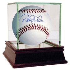 Derek Jeter Autographed Baseball with Display Case