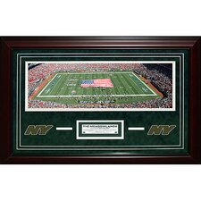 New York Jets Meadowlands Panoramic Turf Collage Framed Memorabilia