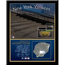 New York Yankees Stadium Center Field Black Rubble Plaque