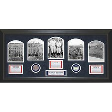 1923 Yankee Stadium 5 Photo Game Used Commemorative Dirt Collage