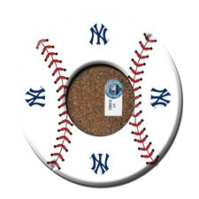 New York Yankees Baseball with Logo Coasters (Set of 4)