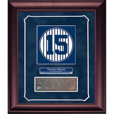 Thurman Munson Retired Number Monument Park Brick Slice 14x18 Framed Collage with Nameplate