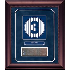 Babe Ruth Retired Number Monument Park Brick Slice 14x18 Framed Collage with Nameplate