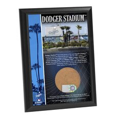 "Dodger Stadium 4"" x 6"" Game Used Dirt Plaque"