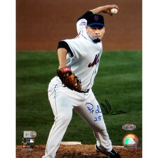 Pedro Feliciano Home Jersey Pitching Close Up Vertical Photograph