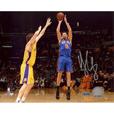 Danilo Gallinari Jumper over Gasol Versus Lakers Autographed Photograph