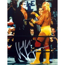 "Hulk Hogan Autographed Vs. Sting 8"" x 10"" Photograph"