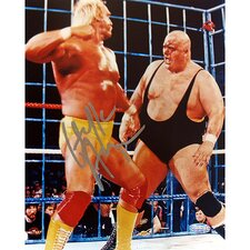 "Hulk Hogan Autographed Steel Cage Vs. King Kong Bundy 8"" x 10"" Photograph"
