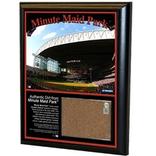 "Minute Maid Field 8"" x 10"" Game Used Dirt Plaque"