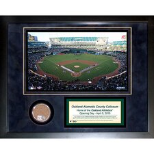 MLB Oakland Athletics Game Used Mini Dirt Collage