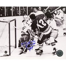 NHL J.P. Parise Game Winning Goal Vs. Rangers Autographed
