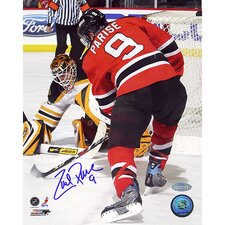NHL Zach Parise Goal Vs. Bruins Autographed