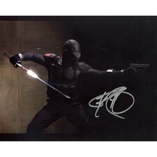Ray Park GI Joe In Black Suit Horizontal Autographed