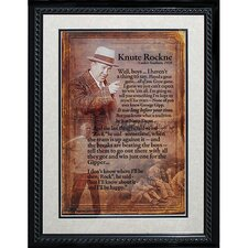 Knute Rockne Framed Speech Collage Photograph