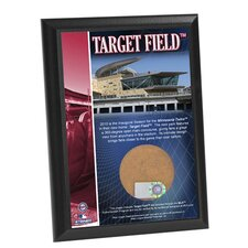 "Target Field 4"" x 6"" Game Used Dirt Plaque"