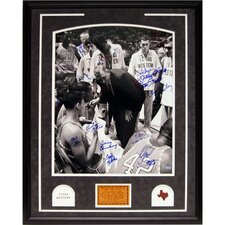 <strong>Steiner Sports</strong> Texas Western with Coach Vertical Framed Photograph