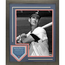 Ted Williams Legendary Moments Framed Collage