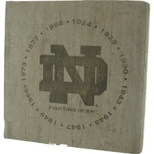 Notre Dame Fighting Irish - National Champion Years Engraved Bench Slab
