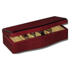 "Small Maple Wave 3.25"" High Watch Box in Cherry Stain"