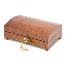 "Small 3"" High Bubinga Burl Jewelry Box"