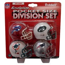 NFL 4 piece Revolution Pocket Pro Helmet Set