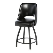 "Cut-Out Back 30"" Metal Swivel Bucket Barstool"