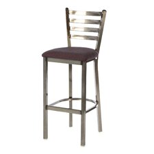 "Steel Ladder Back 30"" Metal Barstool"