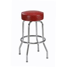 "Steel Ring 30"" Backless Metal Swivel Barstool"